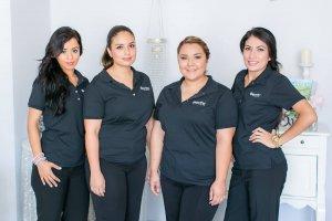 Personal spa concierges Karina, Mariana, Clarissa and Andrea