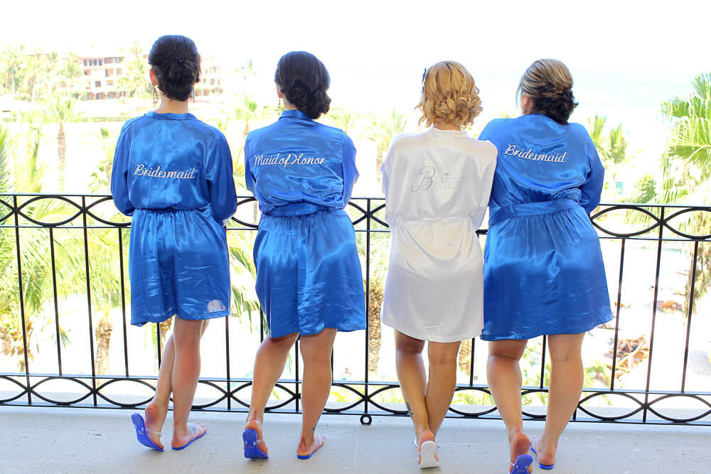 Bridemaids and bridal hair and make-up Cabo wedding Dreams
