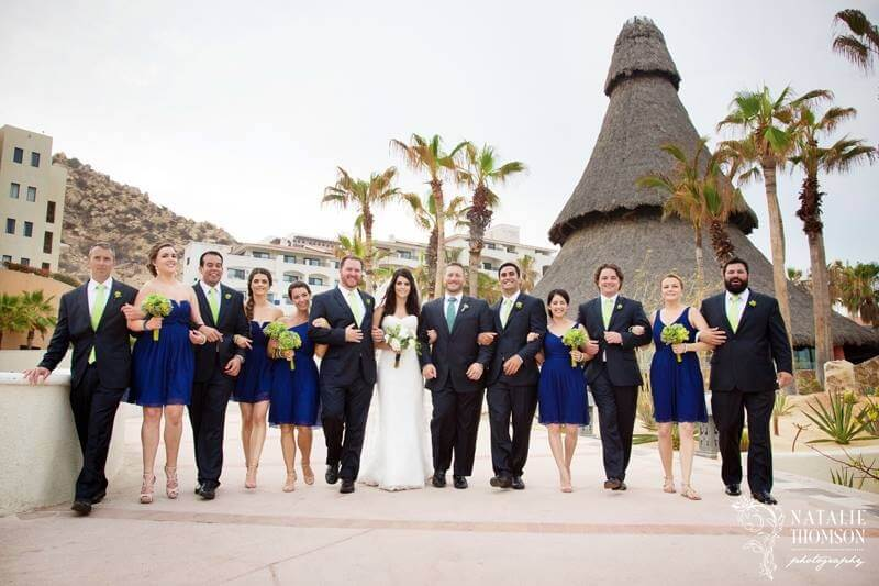 Cabo bridal party at Sandos Finisterra