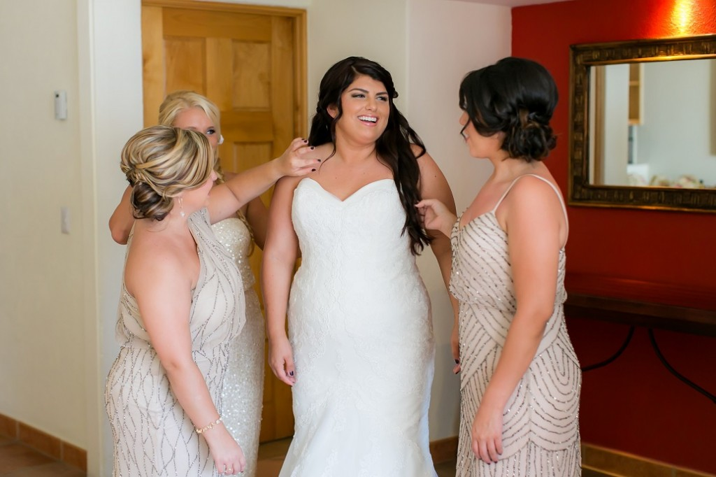 cabo wedding brides dress