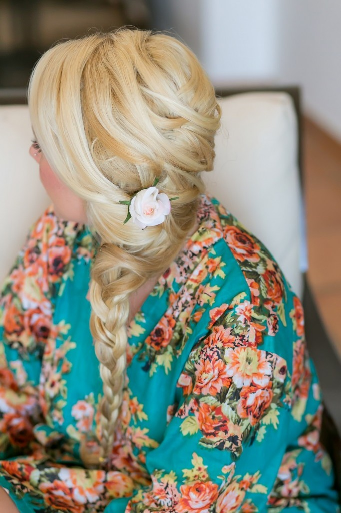 cabo wedding bridesmaid hair