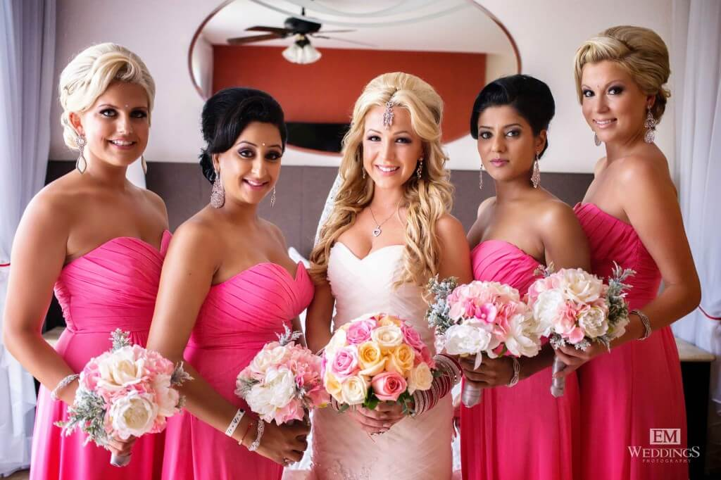 Cabo bridesmaid makeup
